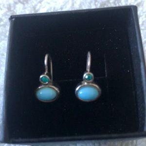 Stunning Sleep Beauty Aquamarine 925 Earrings